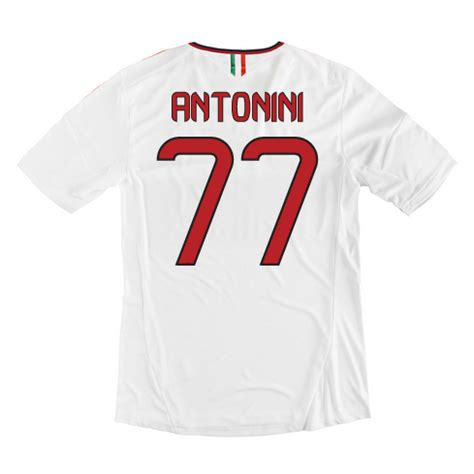 Sweater Ac Milan White 1314 13 14 Ac Milan 77 Antonini Away White Soccer Shirt Ac Milan