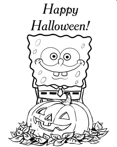 full size printable halloween coloring pages spongebob printable halloween coloring pages hallowen