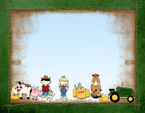 barnyard card template farm animal birthday barnyard invitation tractor boy