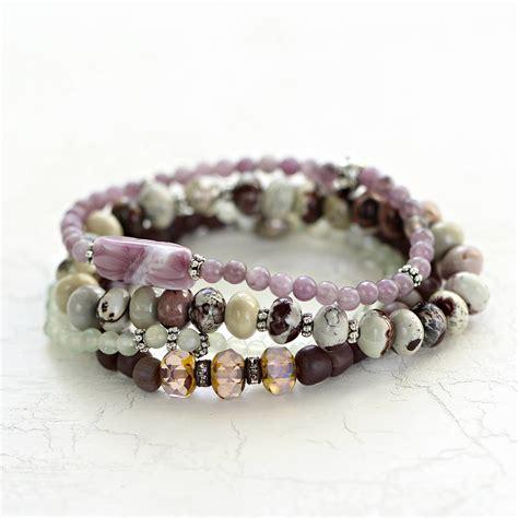gemstone bead bracelet set by artique boutique