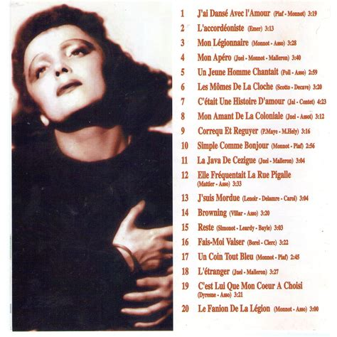 best edith piaf album best of collection by edith piaf cd with