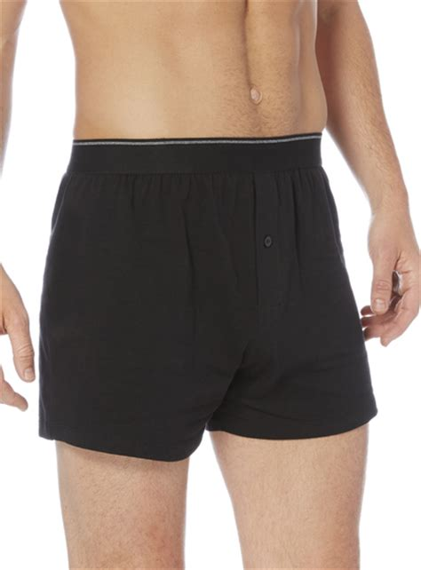 3 Pack Jersey Boxers mens black grey tipped jersey boxers 3 pack tu clothing