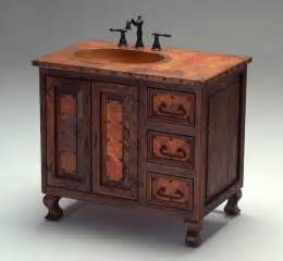 world copper vanity mediterranean bathroom