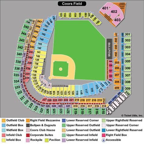 coors field seating chart baseball colorado rockies seat map my