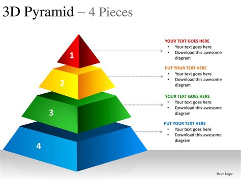 3d Pyramid 4 Pieces Powerpoint Presentation Templates Pyramid Powerpoint Template