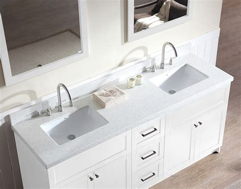 73 Inch Bathroom Countertop ace 73 inch transitional sink bathroom vanity set