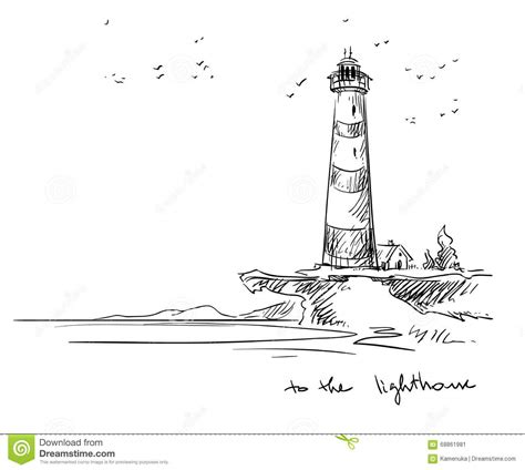 Sketches Vector by Lighthouse Vector Sketch Stock Vector Image 68861981