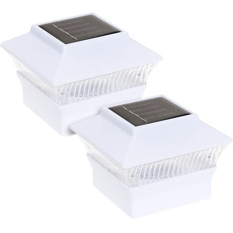 Greenlighting 4 In X 4 In Solar Powered Integrated Led Solar Powered Post Lights For Outdoors