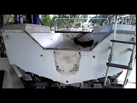 how to reinforce a fiberglass boat transom fiberglass boat evidence of rotten plywood inside