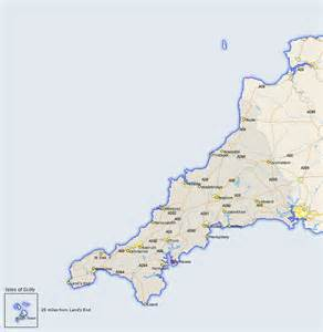 st mawes map and road maps of cornwall uk