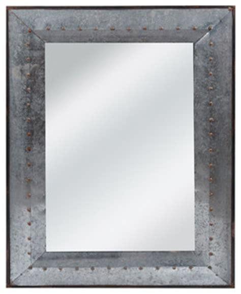 galvanized tin wall mirror industrial wall mirrors