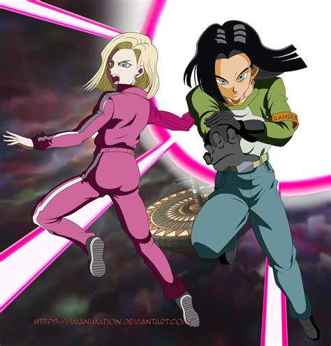 dragon ball super wallpaper for android dragon ball super android 17 and 18 by imanimation on