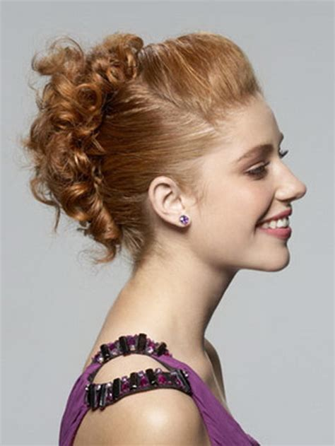 prom hairstyles tight curls curly updo prom hairstyles