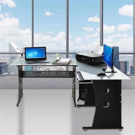 Executive Style Computer Desk Computer Desk Table Home Office Furniture Workstation Laptop Executive Style Opt Ebay