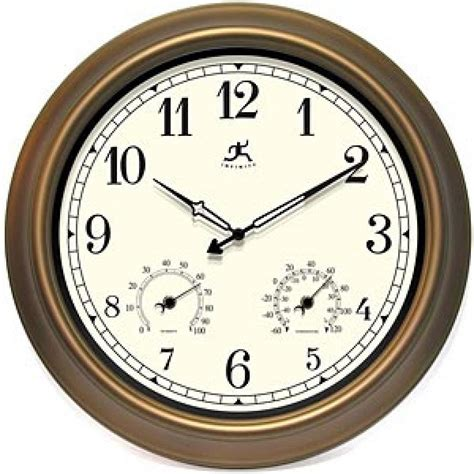 clockway eastbourne 18in indoor outdoor clock w thermo