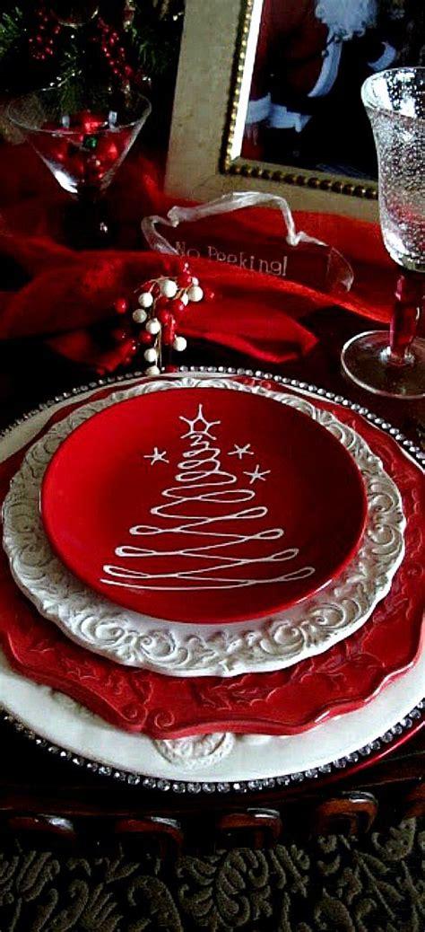 christmas place settings christmas table decoration christmas time pinterest