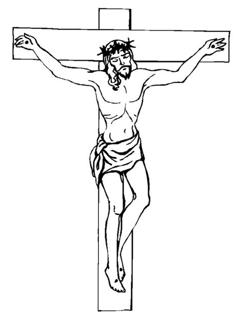 coloring pages jesus crucified image gallery jesus crucifix drawings