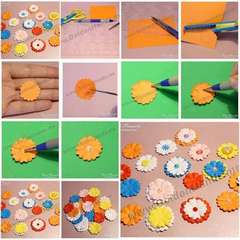 Do It Yourself Paper Crafts by How To Make Easy Paper Flowers Step By Step Diy Tutorial