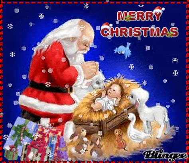 baby jesus  santa picture  blingeecom