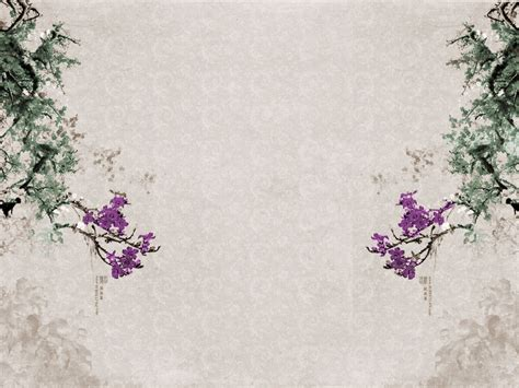 Asian Motif Wallpaper Wallpapersafari Japanese Style Powerpoint Template