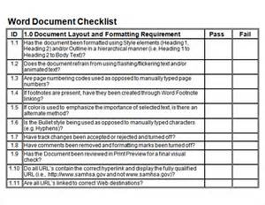 Blank Checklist Template Pdf by Sle Blank Checklist Template 10 Documents