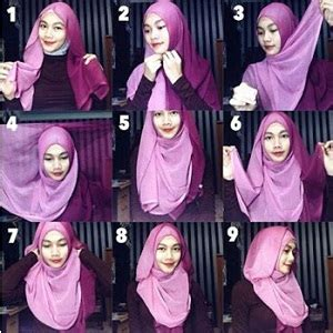 tutorial hijab segiempat semi formal 15 tutorial hijab segi empat dua warna simple terbaru