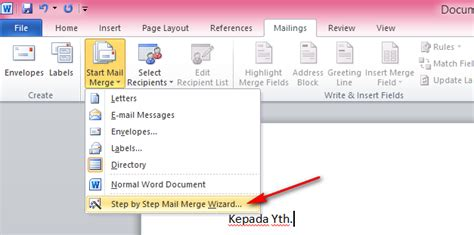 cara membuat mail merge office 2013 cara membuat mail merge di microsoft office word 2010