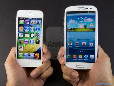 Samsung Vs Iphone Apple Iphone 5 Vs Samsung Galaxy S Iii