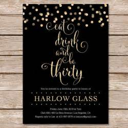 30th birthday invitation glitter invitation printable