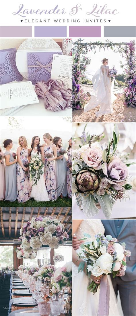updated top 10 wedding color scheme ideas for 2018 trends purple wedding colors purple
