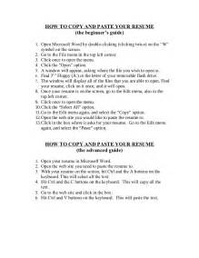 resume copy and paste template how to copy and paste your resume