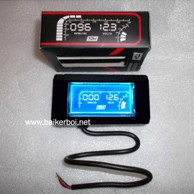 Rpm Meter Mobil tachometer voltmeter digital untuk sepeda motor dipasang