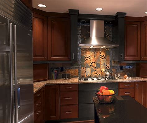 Cherry Wood Kitchen with Charcoal Maple   Kitchen Craft