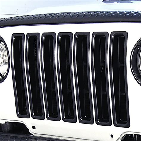 rugged ridge black grille inserts rugged ridge 11306 03 grille inserts black 97 06 jeep wrangler
