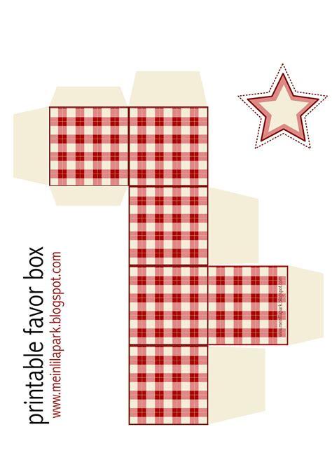 Free Printable Gingham Box Ausdruckbare Geschenkbox Freebie Meinlilapark Gift Box Template Printable