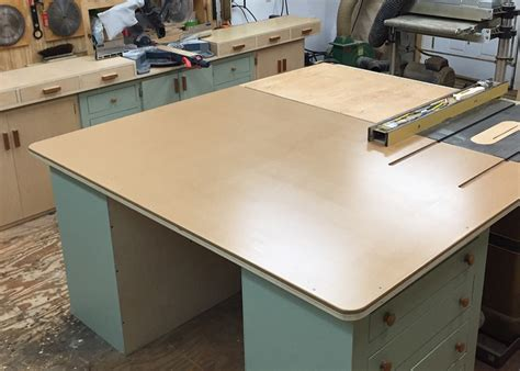 Table Saw Outfeed Table by Repurpose Cabinet Into New Table Saw Outfeed Table