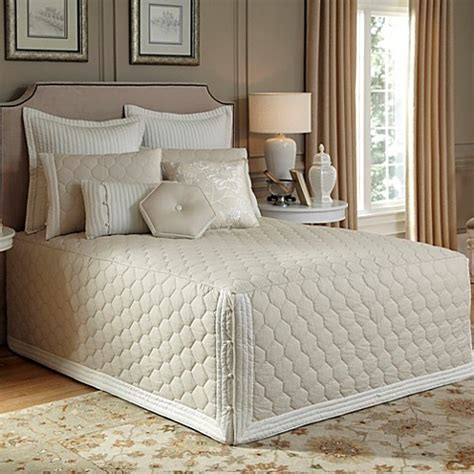 fitted bed coverlet nostalgia home 174 lexington fitted bedspread in taupe bed