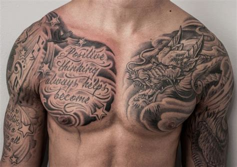 dragon chest tattoo designs 25 best chest tattoos for