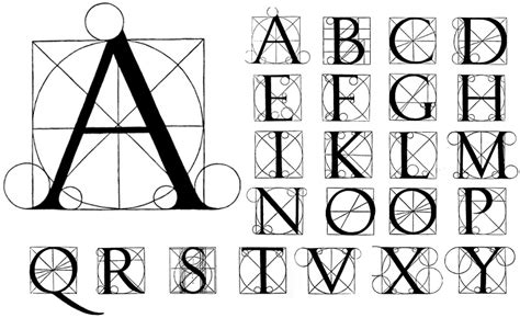 lettere alfabetiche artistiche letterform on luca pacioli alphabet and
