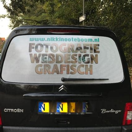 Stickers Auto by Achterruit Reclame Sticker Auto Stickythings Nl