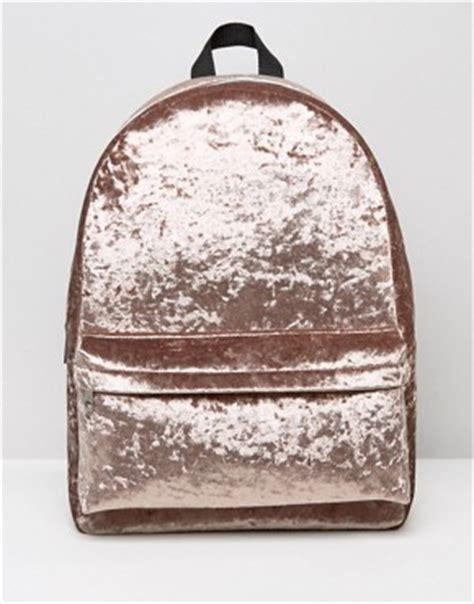 Missguided Crushed Velvet Backpack bolsos bolsos de mano clutches monederos y bolsos tote