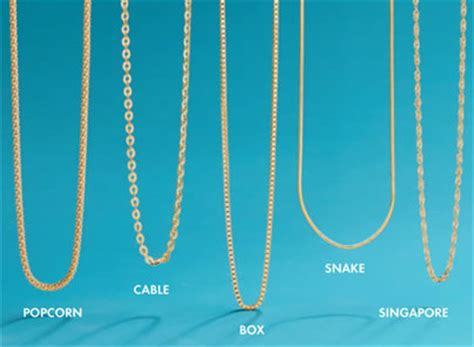 jewelry chain styles for