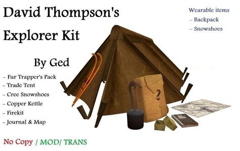 rucksack contents second marketplace david thompson s backpack kit