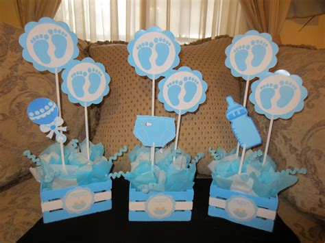 centros de mesa baby shower by creaciones by herminion mesas para