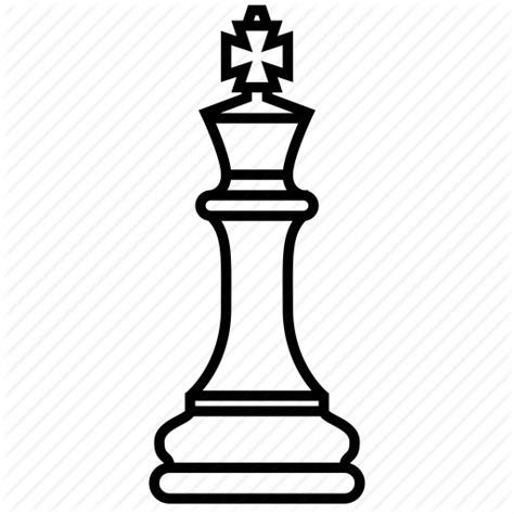 Chess Pieces Outline by Chess Emperor King Ruler Icon Icon Search Engine