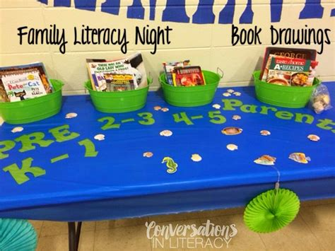 themes of book night organizing a successful family literacy night