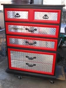 an idea for refurbishing a dresser for a car themed boys