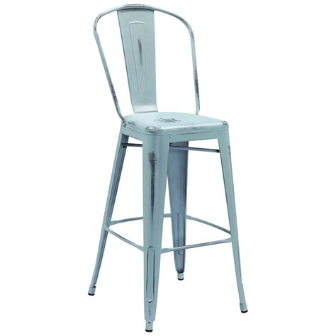 Tabouret Stool With Back by Tolix Style Distressed Indoor Outdoor Bar Stool With Back