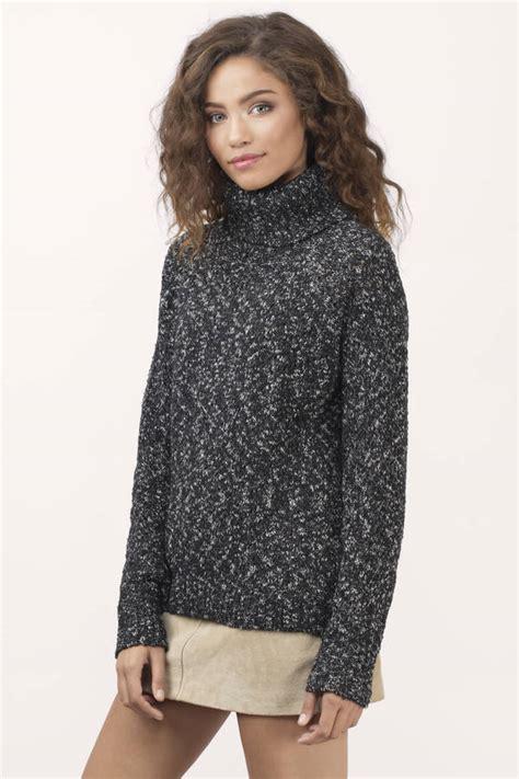Cowl Neck Sweater black white sweater cowl neck sweater black white