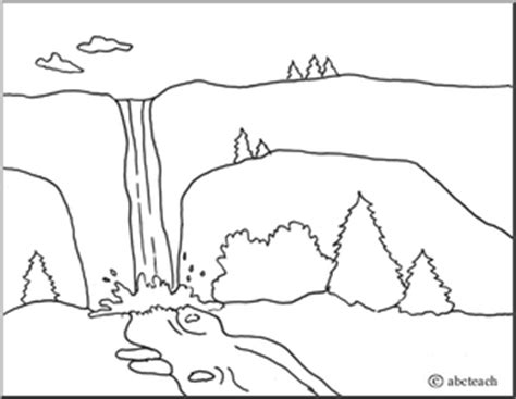 coloring page landforms mountain science landform